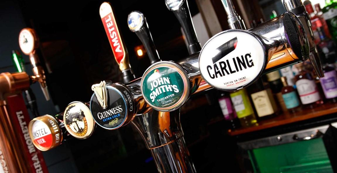 WIDE RANGE OF CRAFT BEERS AND CONTINENTAL LAGERS