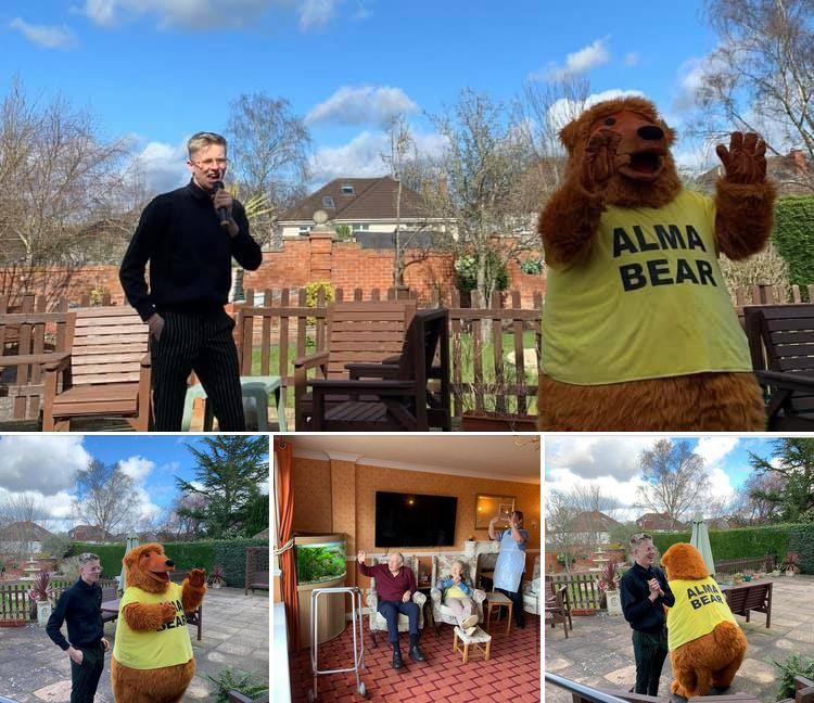 Alma bear at care home